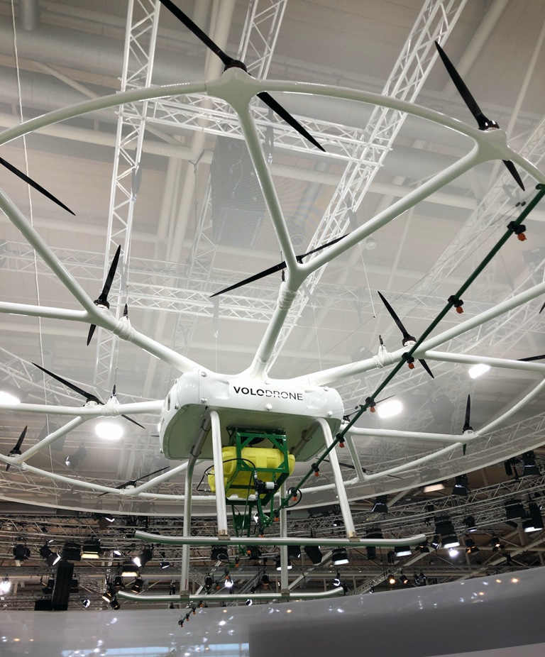 Drone pesticicde application reaches new heights at Agritechnica 2019