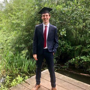Stan Clarke graduating UEA