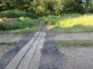 TMAF Morley Farm typical track drain