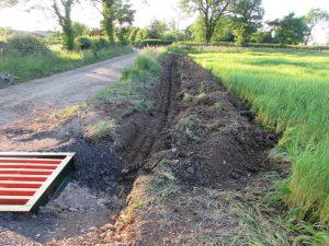 TMAF Morley Farm Cross Drain construction