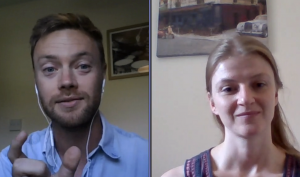 TMAF-supported PhD students Joseph MArtlew (left) and Suzannah Cobb